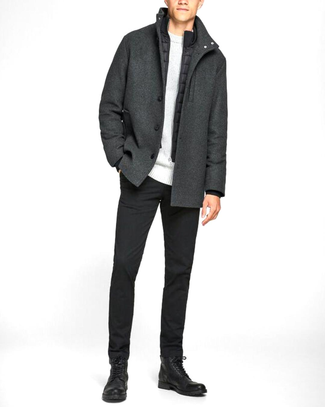 JJDUAL WOOL JACKET DARK-X