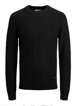 JJKIM KNIT CREW NECK BLACK-X