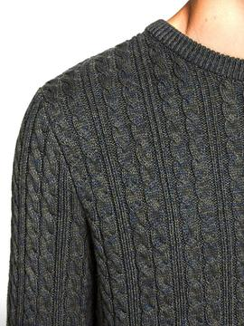 JPRBLUSLATE KNIT CREW NECK DARKEST-X