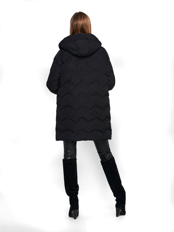 ONLCAMILLA WUILTED COAT BLACK-X