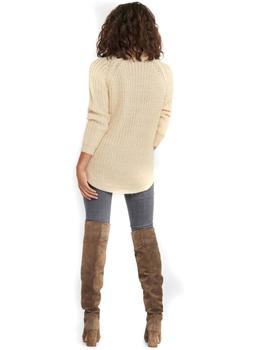 ONLNEW MELIA L/S LONG PULLOVER ALMOND-X