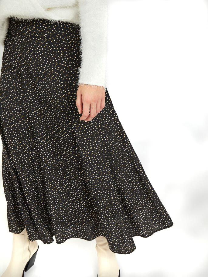 VICORAS MIDI SKIRT BLACK-Y
