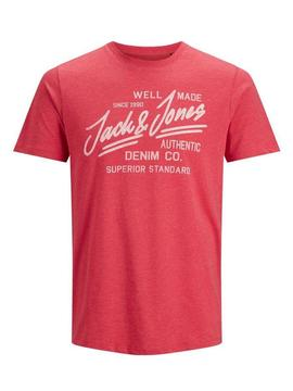 JJEJEANS TEE SS CREW NECK TRUE RED-Y