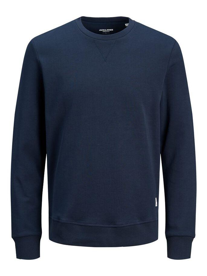 JEEBASIC SWEAT CREW NECK NAVY-Y
