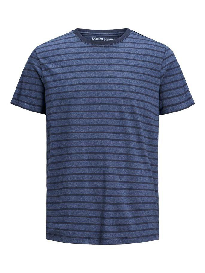 JJSTRIPED TEE SS CREW NECK NAVY-Y