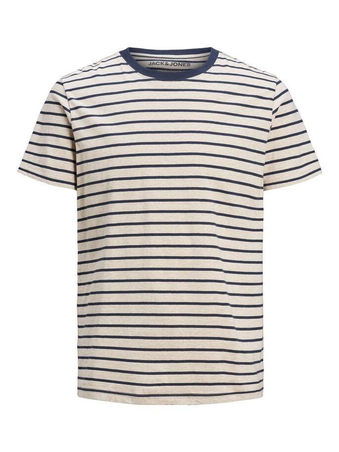 JJSTRIPED TEE SS CREW NECK WHITE-Y