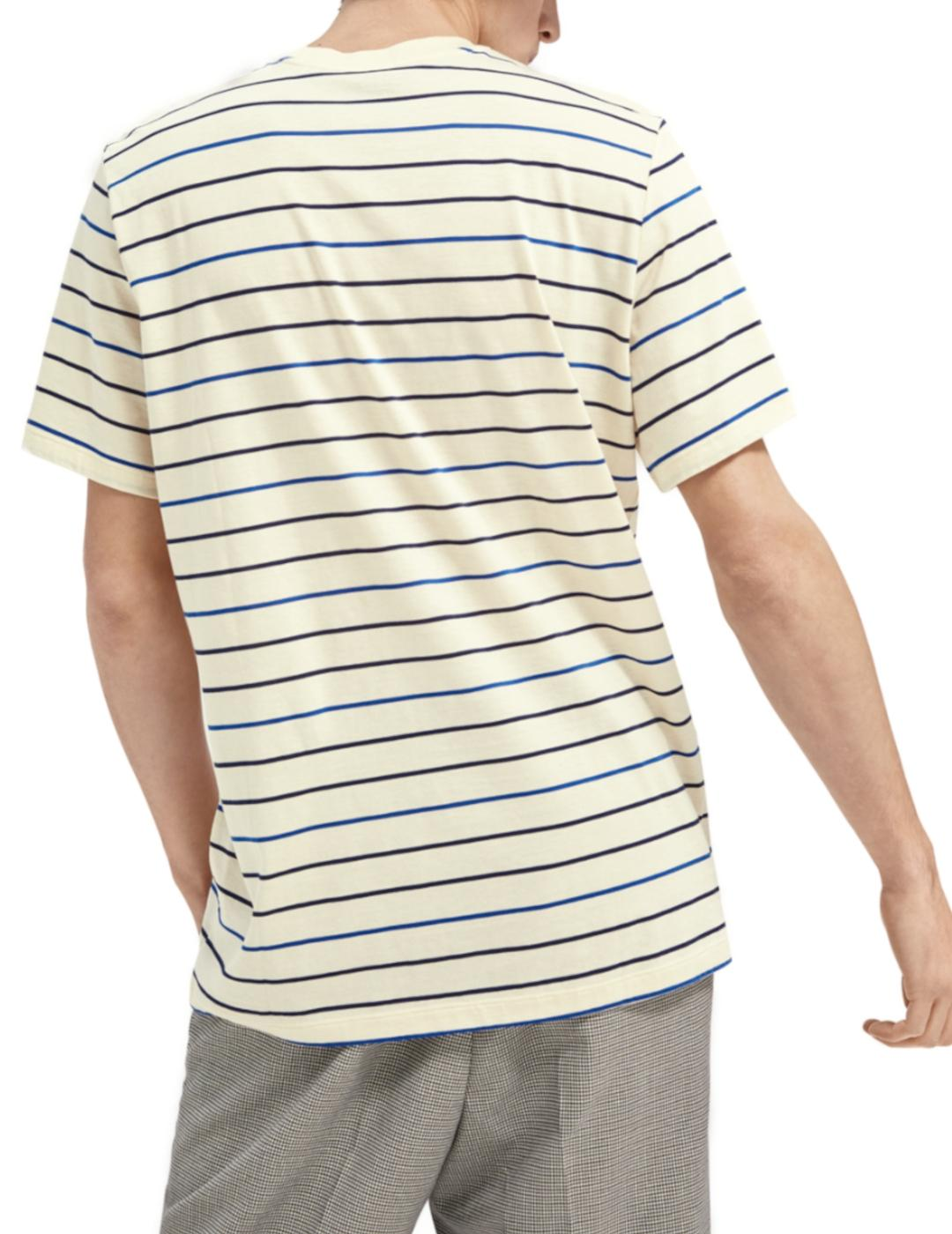 MERCERIZED STRIPE TEE-Y