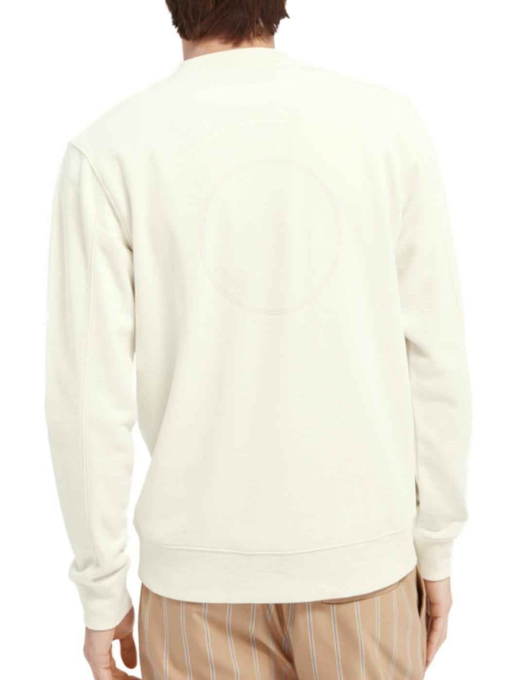 ORGANIC COTTON BLEND FELPA CREWNECK-Y