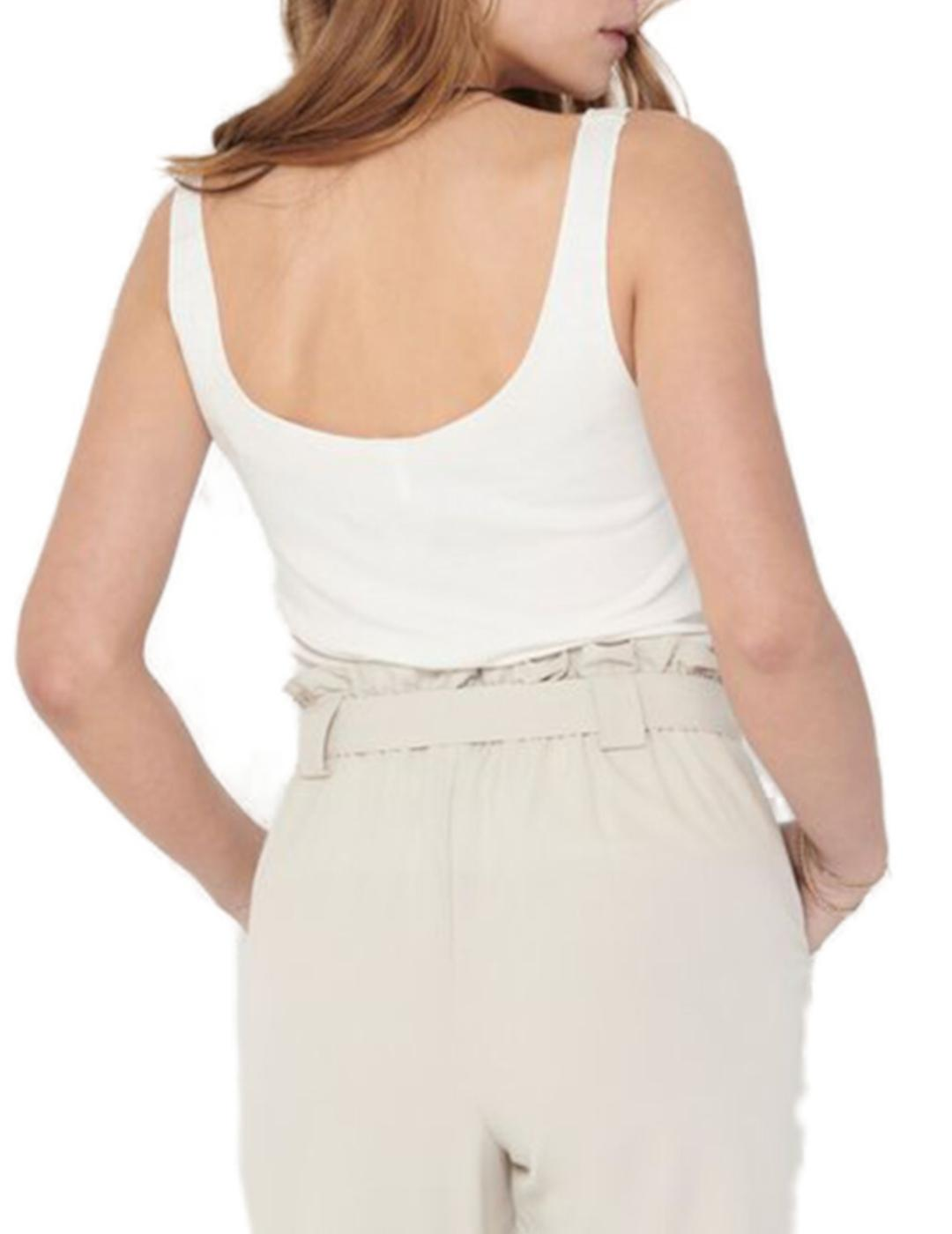 ONLMINKO S/L RIB TOP CLOUD DANCER-Y