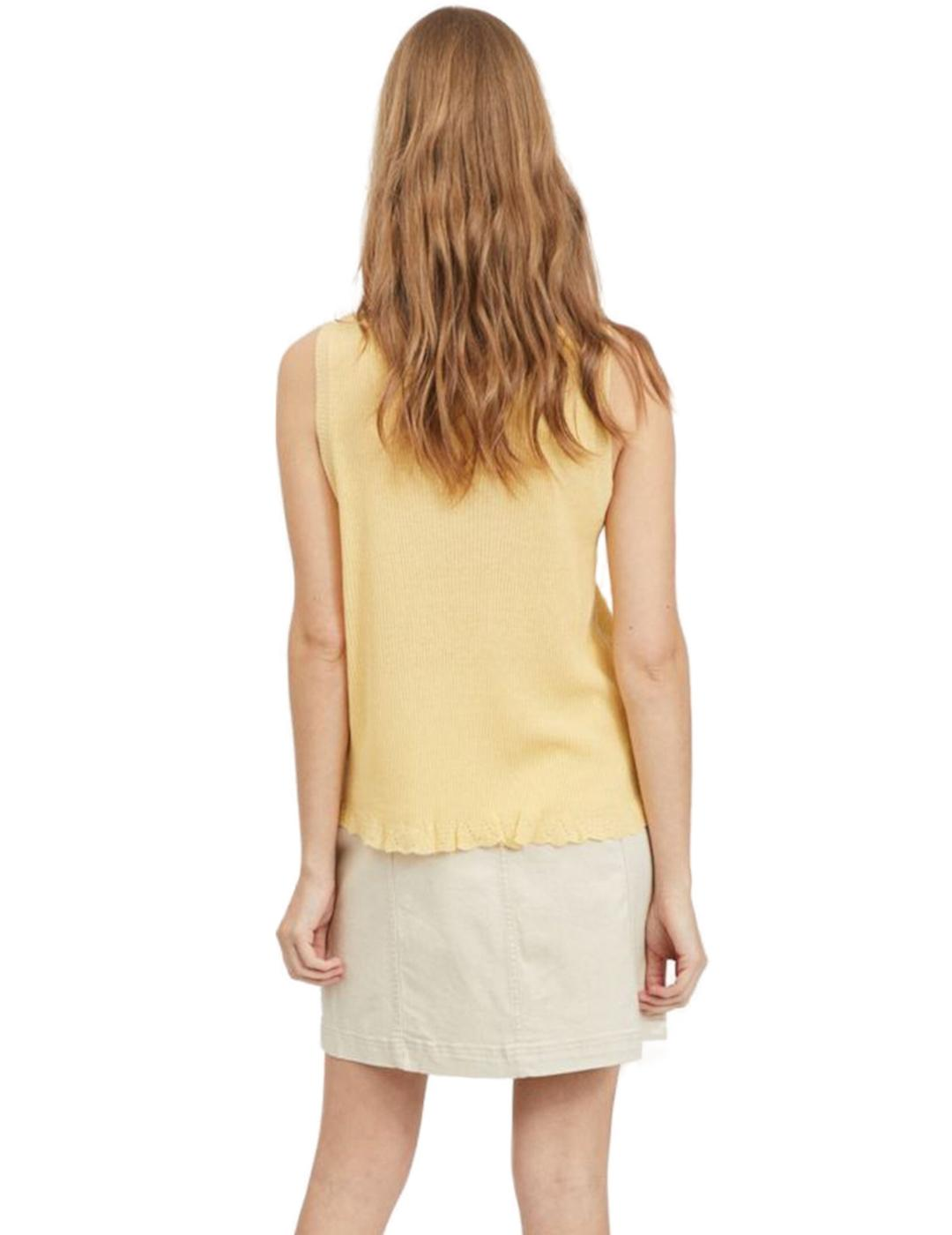 VIWOLA S/L KNIT TOP SUNLIGHT-Y