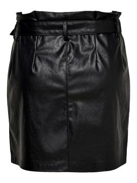 ONLMETTE SHORTS FAUX LEATHER BLACK-V