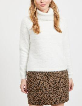 VIALINJA KNIT L/S TOP WHITE-V