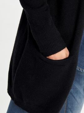 ONLQUEEN L/S LONG CARDIGAN BLACK-V
