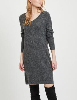 VIVIKKA L/S V-NECK DRESS DARK-V