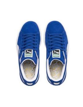 SUEDE CLASSIC BLUE WHITE-S