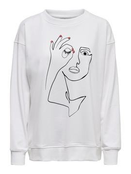 ONLART L/S O-NECK SWT BRIGHT WHITE- V