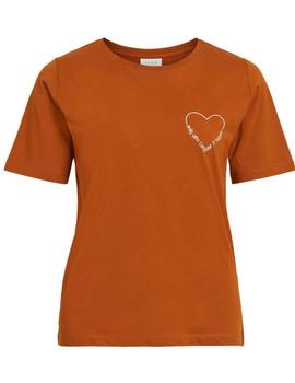 VIEVIE T/SHIRT CARAMEL-V