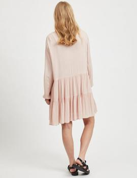 VIOLEAN L/S DRESS ROSE-V
