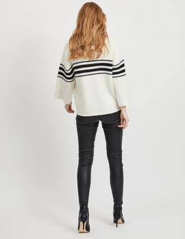 VIKINDA KNIT O-NECK TOP WHISPER-V