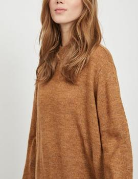 VIARTA L/S KNIT TOP TOBACCO-V