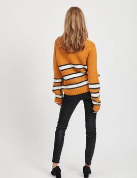 VIPIPER L/S KNIT TOP GOLDEN-V
