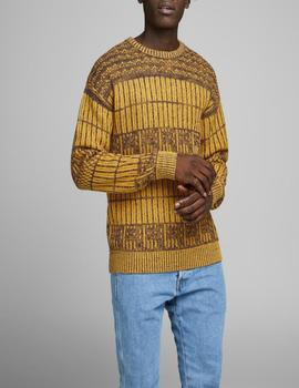 JORSHAPE KNIT CREW NECK SUNFLOWER-V