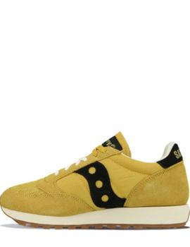 JAZZ VINTAGE SUEDE LOGO YELLOW/BLACK-V
