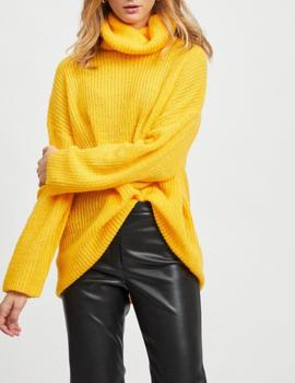VIOLASA ROLL NECK KNIT GOLDEN-V