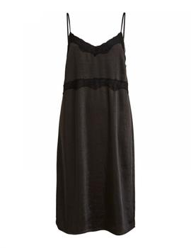 VIANTAR STRAP DRESS BLACK-V