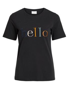 VIHELLO T-SHIRT BLACK-V