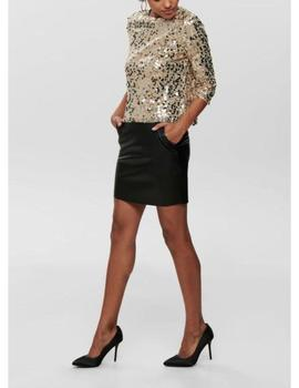 ONLJULIANA 3/4 SEQUINS TOP FROSTED-V