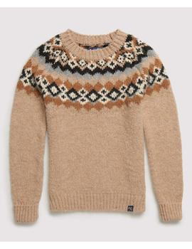 SAVANNAH YOKE JACQUARD KNIT-V