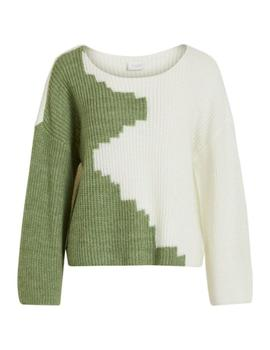 VILOUI KNIT LS TOP LODEN-W