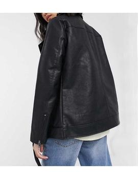 ONLBRITT FAUX LEATHER LOOSE BLACK-W