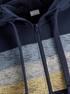 JORLANGLEY SWEAT ZIP HOOD NAVY-W