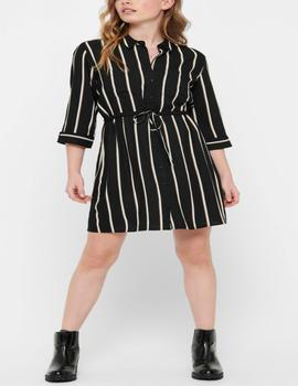 ONLTAMARI 3/4 SHIRT DRESS BLACK-W