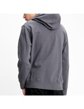 PIECED PULLOVER HOODIE -W