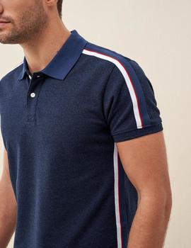 POLO FIT REGULAR CON RAYA LATERAL-W