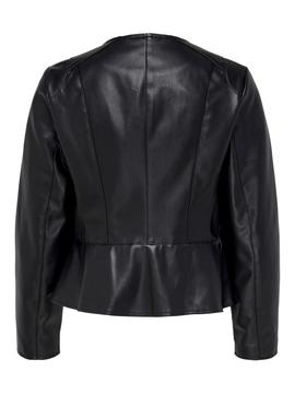 ONLJOSIE FAUX LEATHER JACKET BLACK-W