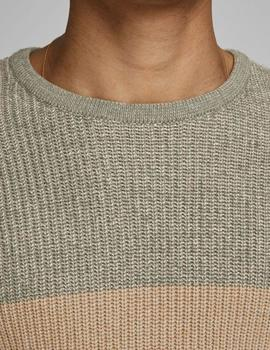 JORFIZZ BLOCK CREW KNIT DUSTY-W