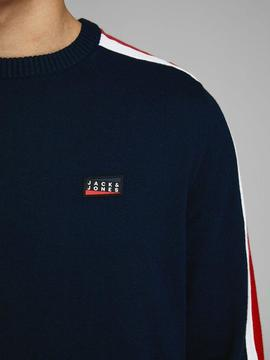 JCOBADGE KNIT CREW NECK SKY-W