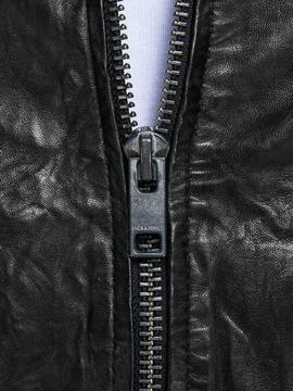 JJELIAM LEATHER JACKET BLACK-W