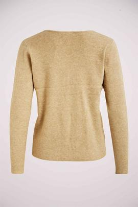 VILACAL KNIT L/S LACE TOP NOMAD-W