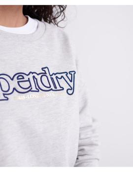 APPLIQUE SERIF CREW-W