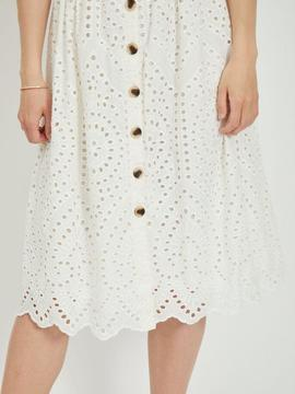 VICAMELINA MIDI S/L DRESS SNOW-W