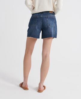 DENIM MID LENGTH SHORT-W