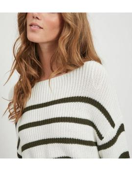 VIRUSH KNIT BOATNECK L/S TOP WHITE FOREST-X