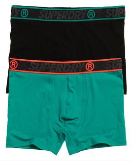 BOXER DOUBLE PACK TURQUOISE-W