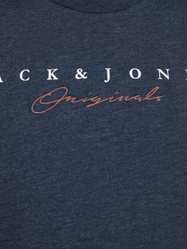 JORSTATION TEE SS CREW NECK NAVY-X