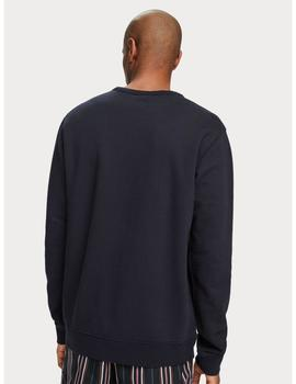 BLAUW CREW NECK LOGO SWEAT-X